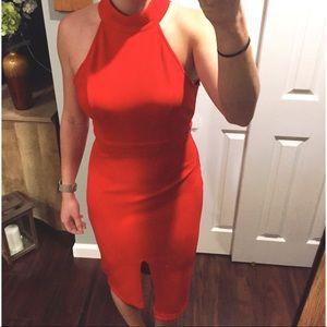 LULUs Red Open Back Dress